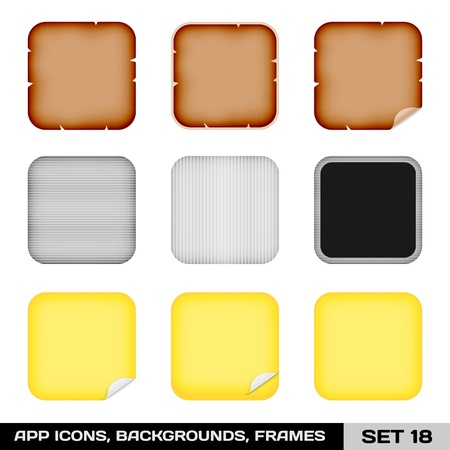 Set Of App Icon Frames, Templates, Backgrounds Stock Vector - 19316358
