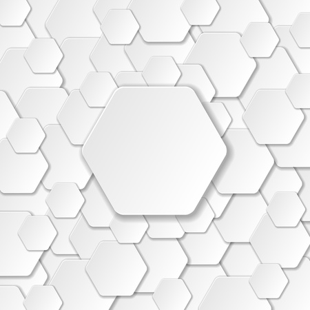 hexagonal pattern: Neutral Paper Cut Background