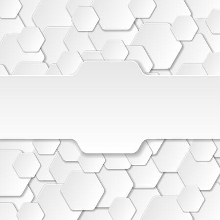 Neutrale Paper Cut Achtergrond Stock Illustratie