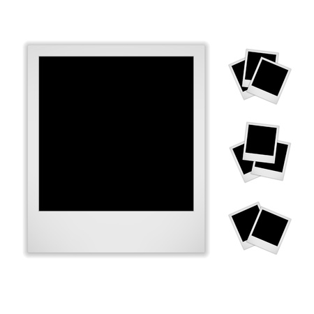 Blank Photo Frame  Isolated On White Background  Polaroid Style   Vector