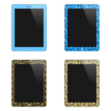 Realistic Concept Of Tablet PC With Blank Screen  For Boys And Men  Vertical  Isolated On White Background  Stock Vector - 19316395