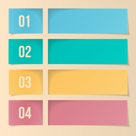 Design Template For Infographics, Numbered Banners, Web Layout  Vector Illustration Vector