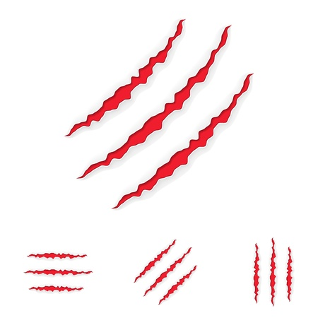 wound: Claw Scratches Set  Vector