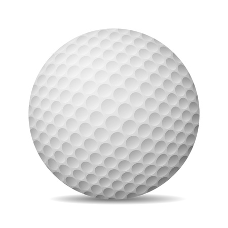Realistic Golf Ball  Isolated On White  Vector Illustration Stock Vector - 20051788