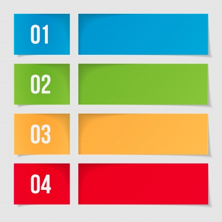 Design Template For Infographics, Numbered Banners, Web Layout  Vector Illustration Stock Vector - 20051784