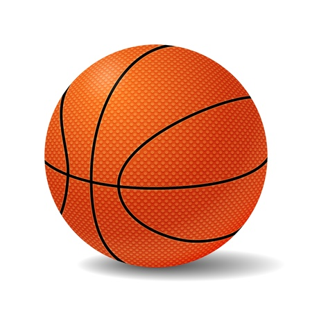 Realistic Basketball Ball Illustration