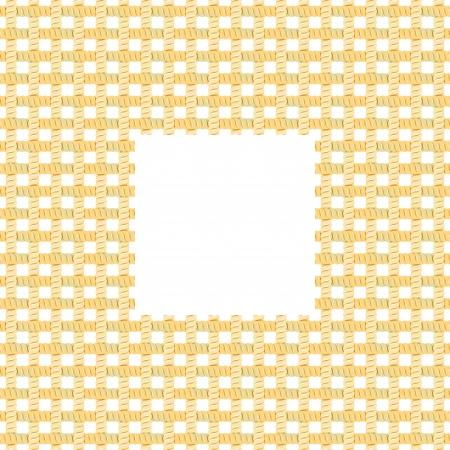 Rope Net Frame  Vector Illustration Vector