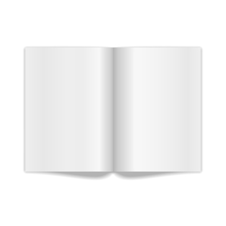 Book Spread With Blank White Pages  Vector Illustration Stock Vector - 20439707
