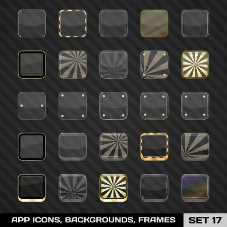 Set Of App Icon Frames, Templates, Backgrounds  Set  Vector Illustration Vector