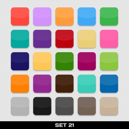 Set Of Colorful App Icon Templates, Frames, Backgrounds  Set 21  Vector Stock Vector - 21085664
