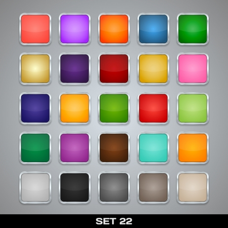 Set Of Colorful App Icon Templates, Frames, Backgrounds  Set 22  Vector Stock Vector - 21085665