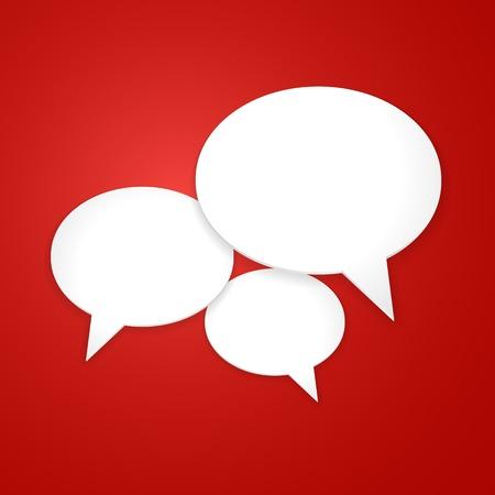 Speech Bubble Background  Vector Illustration Stock Vector - 21085706