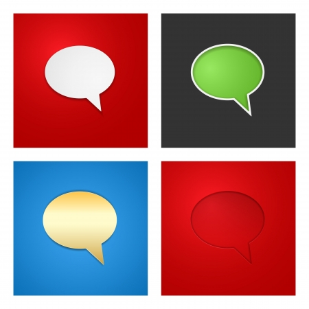 Speech Bubble Background Set  Vector Illustration Vector
