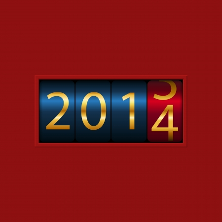 new year counter: New Year counter, 2013, 2014  Isolated  Vector Illustration