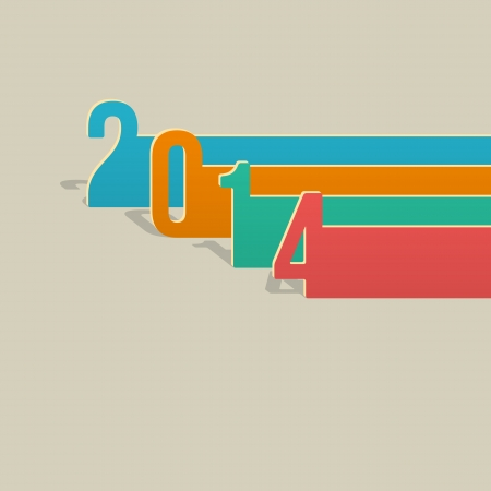2014 New Year Card Template  Vector Stock Vector - 23195130