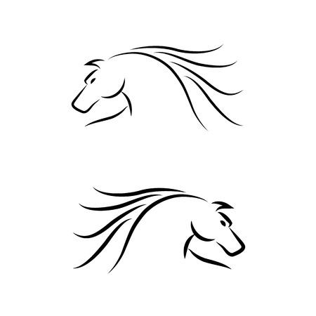 Horse Emblem  Set  Vector Stock Vector - 23195169
