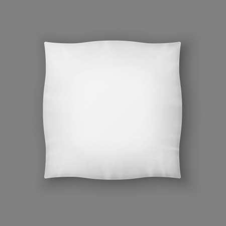 Blank Square Vector Pillow Blanco