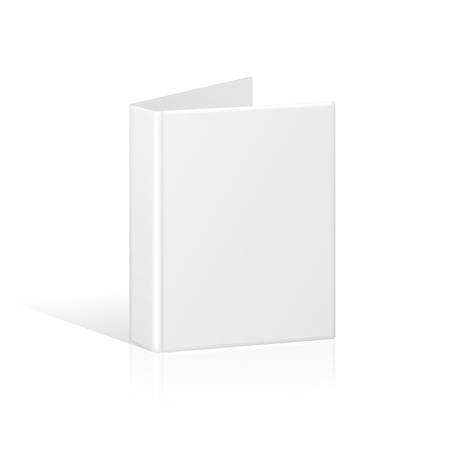 Blank Book Cover, Binder or Folder Template. Vector Vettoriali