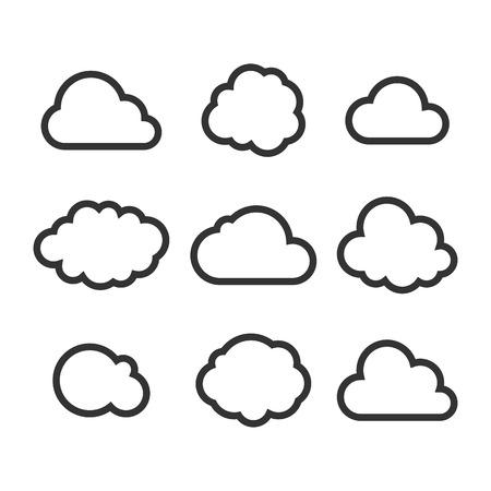 Cloud Icon Set. Vektor Illustration
