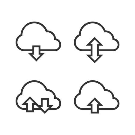Cloud Storage Icon Set. Vector Vector