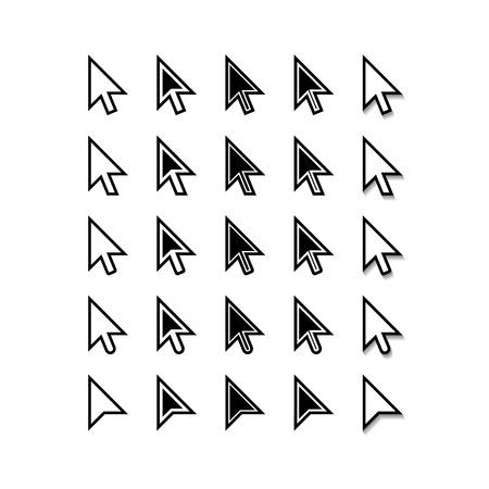 mouse computer: Arrows. Cursor Icons. Mouse Pointer Set. Vector Illustration