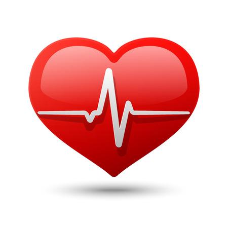 cardiogram: Heart Icon. Vector