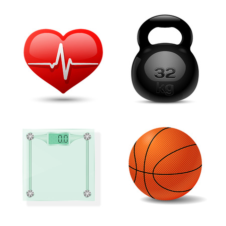 Sport And Fitness Icon Set. Vector Vector