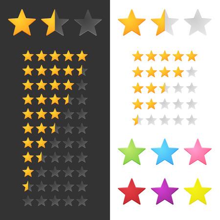 star rating: Voto Stars Set. Vettore