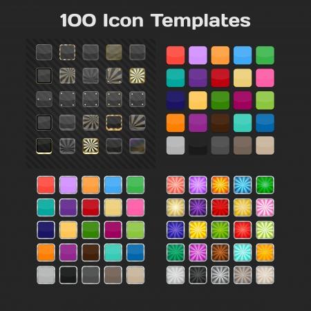 100 App Icon Templates  Set  Vector Vector