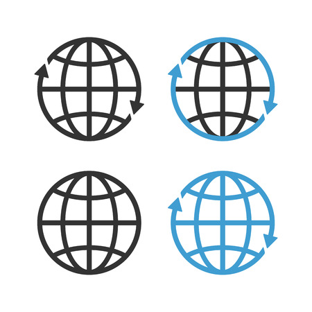 Earth Globe Emblem Set  Vector Vector