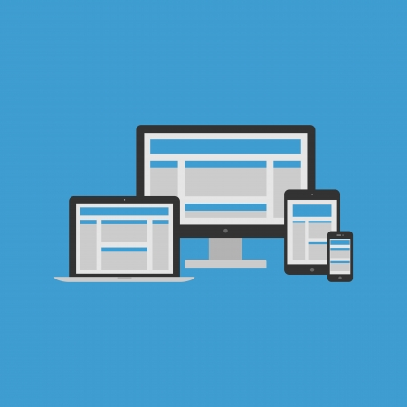 responsive: Responsive Design Concept  Vector Illustration