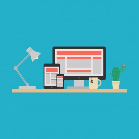 responsive web design: Responsive Web Design Concept  Vector