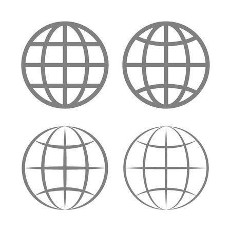 globe icon: Earth Globe Emblem Set  Vector