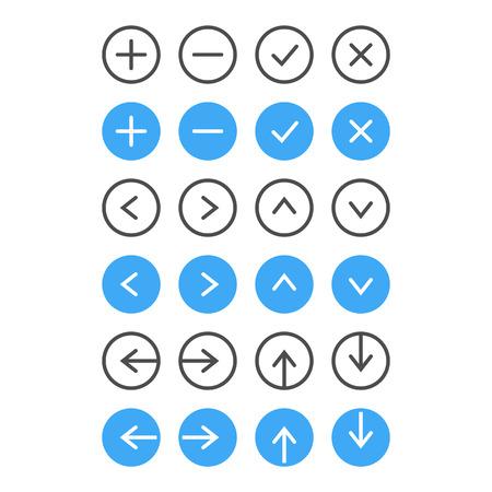 to tick: Icono Thin Set Navegación y Gestión de listas Vector Vectores