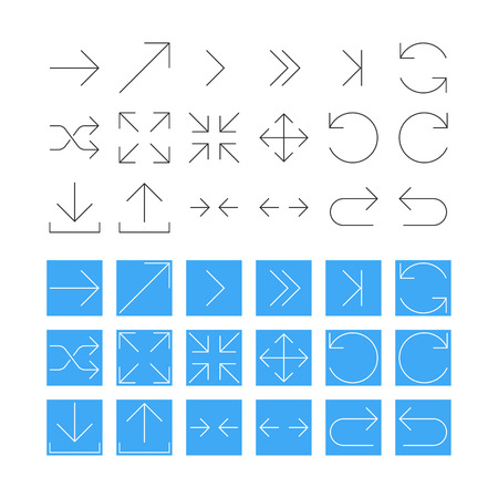 arrow icon: Thin Arrow Icon Set. Vector