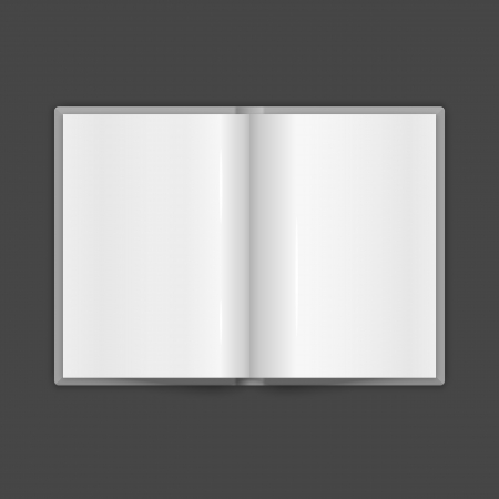 mag: Book Spread With Blank White Pages. Vector