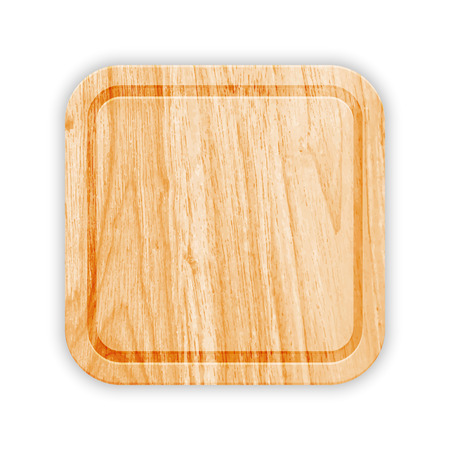 Wooden Cutting Board With Groove. Vector Vector