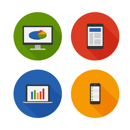 Responsive Design. Flat Icons Set. Vector Vector
