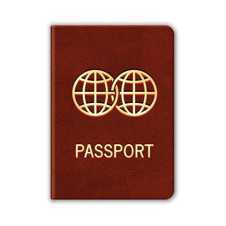 현실적인 여권. 화이트에 격리입니다. 벡터