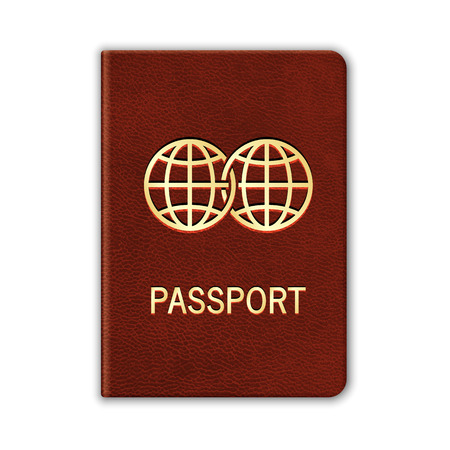 Realistic Passport. Isolated On White. Vector Vettoriali