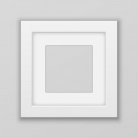 Realistic Picture Frame. Square. Vector