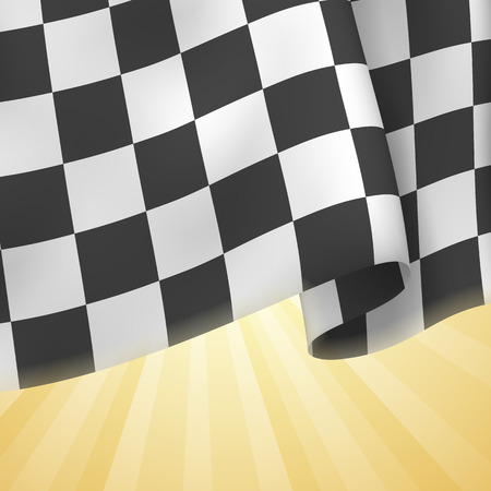 gran prix: Checkered Flag Background. Card Template. Vector Illustration