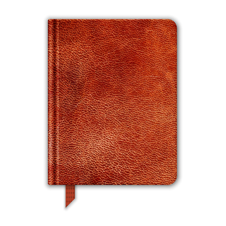 moleskin: Natural Leather Notebook. Copybook With Bookmark. Vector Illustration