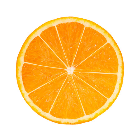 Fotorealistische Orange Slice. Vector Illustratie Stock Illustratie