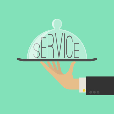 Service Concept. Flat Style. Vector Illustration Vettoriali