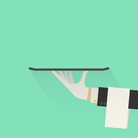 Dienst Concept. Flat Style. Vector Illustratie