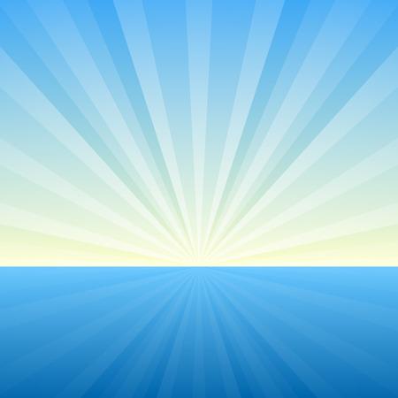 Contexte Sunburst. Couvrir modèle. Vector Illustration