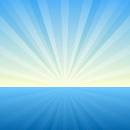 Sunburst Background. Cover Template. Vector Illustration Reklamní fotografie - 26764456