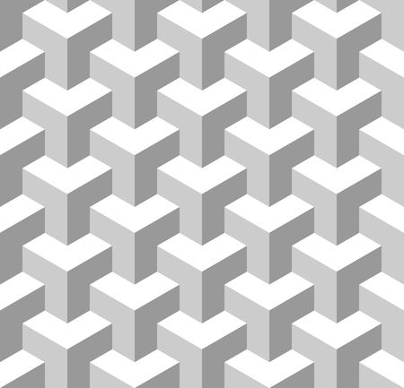 Seamless Geometric Pattern. Grayscale Background. Vector.