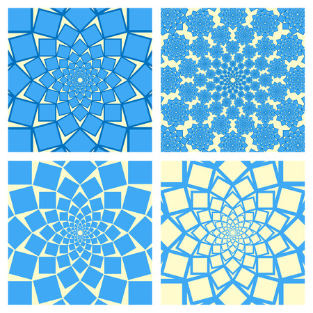 twirl: Geometric Background Set. Oriental Style. Vector. Illustration